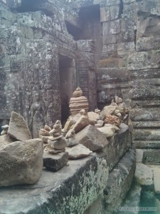 Angkor Archaeological Park - Bayon rock stacking 1