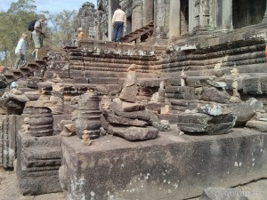 Angkor Archaeological Park - Bayon rock stacking 2