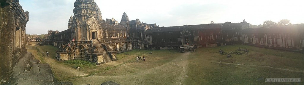 Angkor Archaeological Park - panorama Ankor Wat view 1
