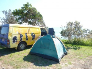 Australia travel camping - camping by campervan