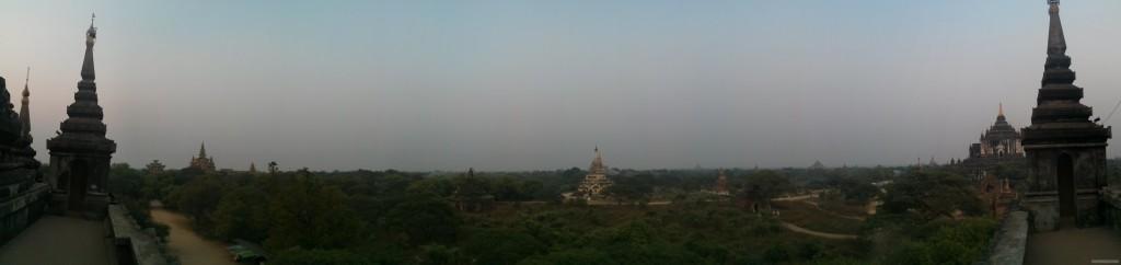 Bagan - panorama Shwegugyi east