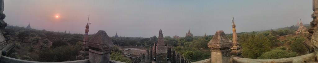Bagan - panorama Shwegugyi north