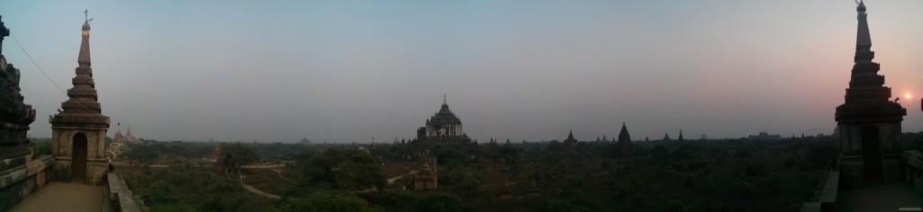 Bagan - panorama Shwegugyi south