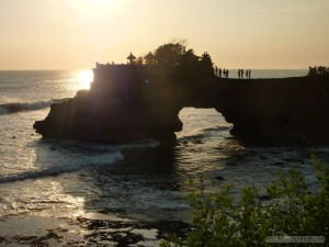 Traveling around Bali - Tannah Lot sunset 1