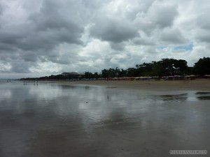 Traveling around Bali - cloudy beach