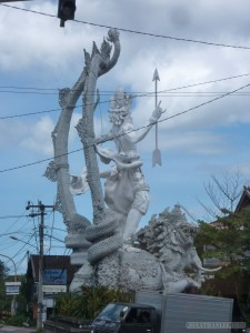Traveling around Bali - statues