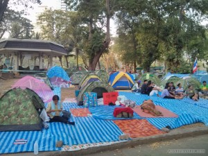 Bangkok again - Lumphini park protests tet city 2