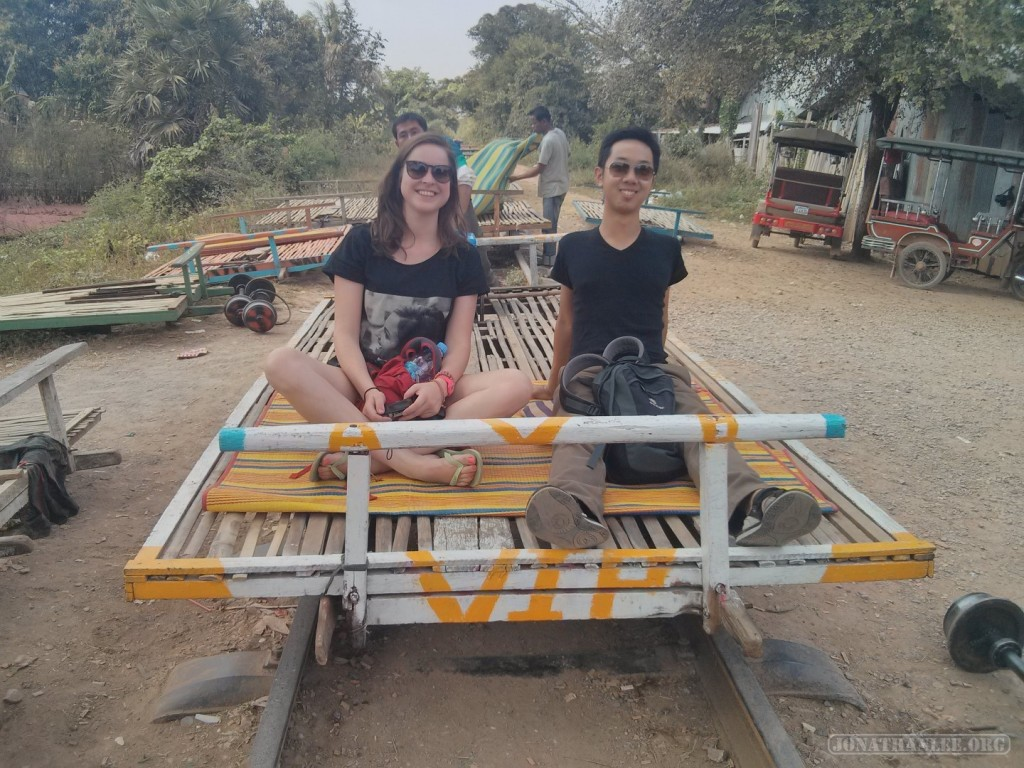 Battambang - bamboo train portrait