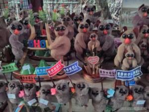 Bohol tour - tarsiers souvenir shop
