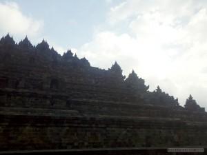 Borobudur - silhouette 2
