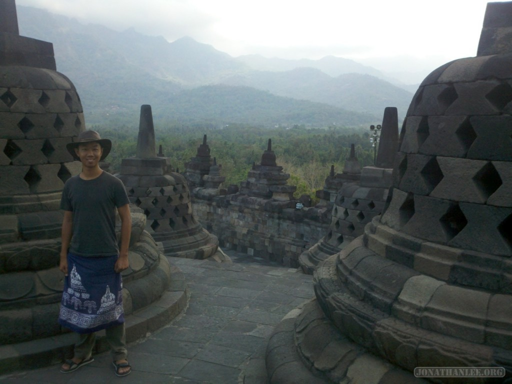 Borobudur - stupas portrait