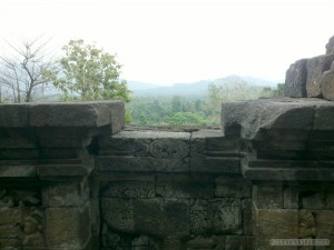 Borobudur - view from Borobudur 1