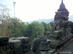 Borobudur - view from Borobudur 2