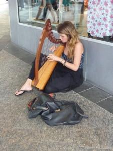 Brisbane - harp busker