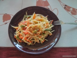 Chiang Mai - cooking class papaya salad