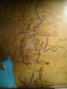 Chiang Mai - history center lanna map