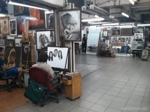 Chiang Mai - night bazaar shops painting