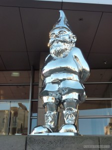 Christchurch - giant silver gnome