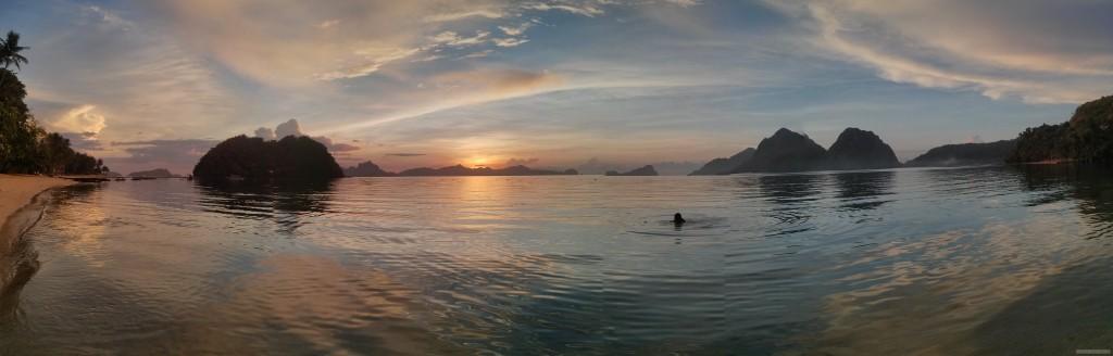 El Nido - panorama las cabanas sunset 1