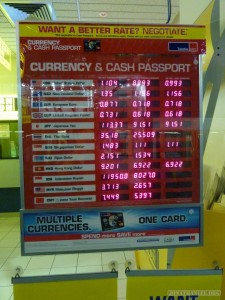 Exchange rate - bank rates