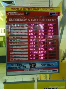 Exchange rate - bank rates