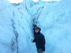 Fox Glacier - horizontal crevasse 1
