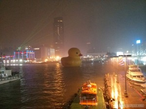 Giant rubber ducky - side view