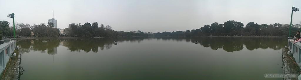 Hanoi - panorama Hoan Kiem Lake 3