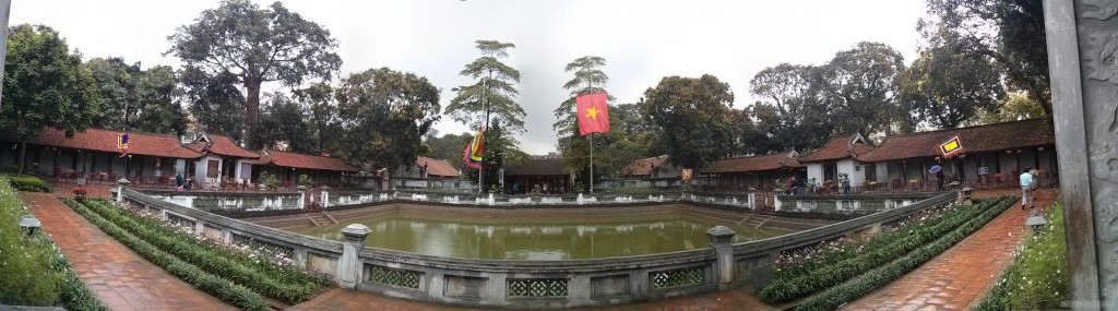 Hanoi - panorama Temple of Literature 2