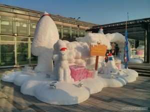 Hong Kong - Victoria peak Christmas display