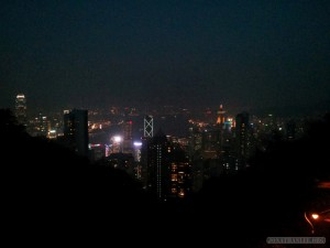 Hong Kong - Victoria peak night view