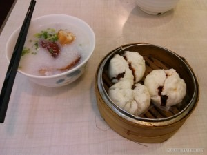 Hong Kong - congee and cha shao bao