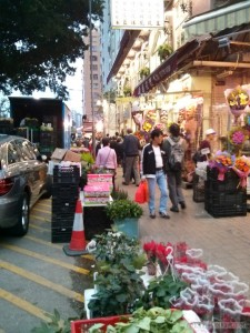 Hong Kong - flower market