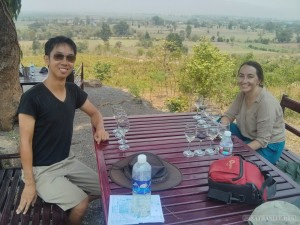 Inle Lake - Red Mountain winery view portrait
