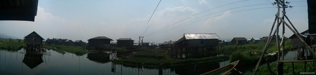 Inle Lake - panorama Maing Thauk harbor view 1