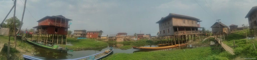 Inle Lake - panorama Maing Thauk harbor view 2