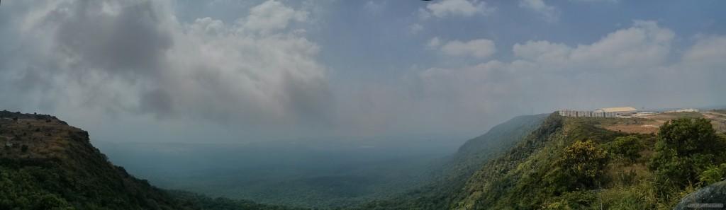 Kampot - panorama Bokor mountain view 2