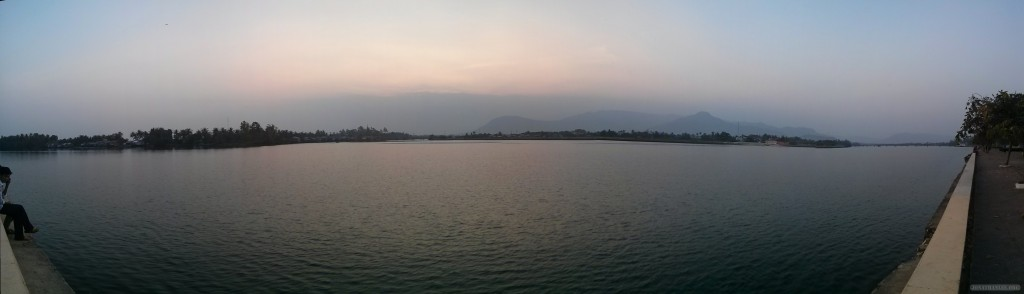 Kampot - panorama river side 2