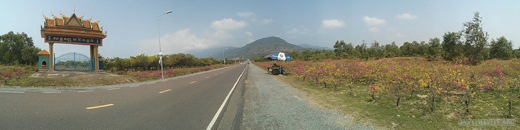 Kampot - panorama road to Bokor