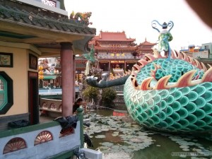 Kaohsiung - lotus pond riding on dragon fishing and city god temple
