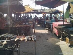 Kep - crab market