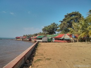Kep - crab market row