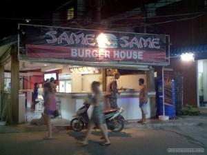 Koh Phangan - same same burger