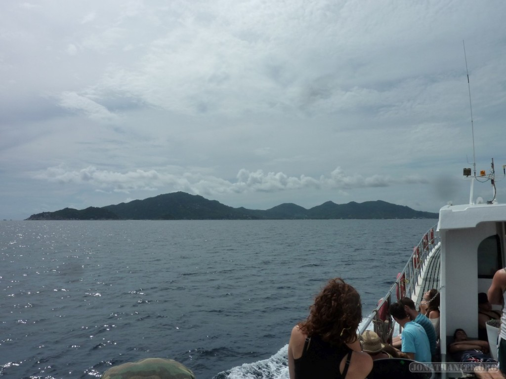 Koh Tao - approaching Koh Tao by boat
