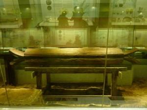 Kuala Lumpur - National Museum wooden coffin