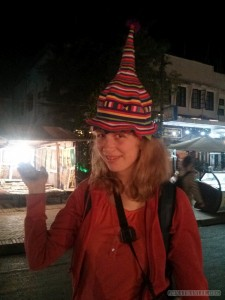 Luang Prabang - Sofie with hat