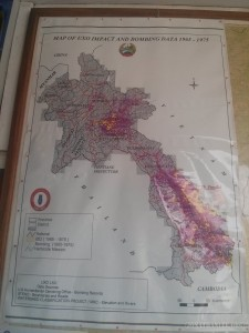 Luang Prabang - UXO Laos bombing map