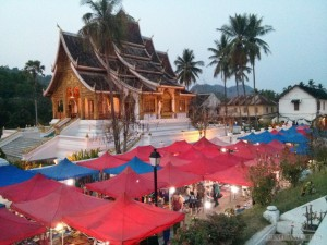 Luang Prabang - night market from above