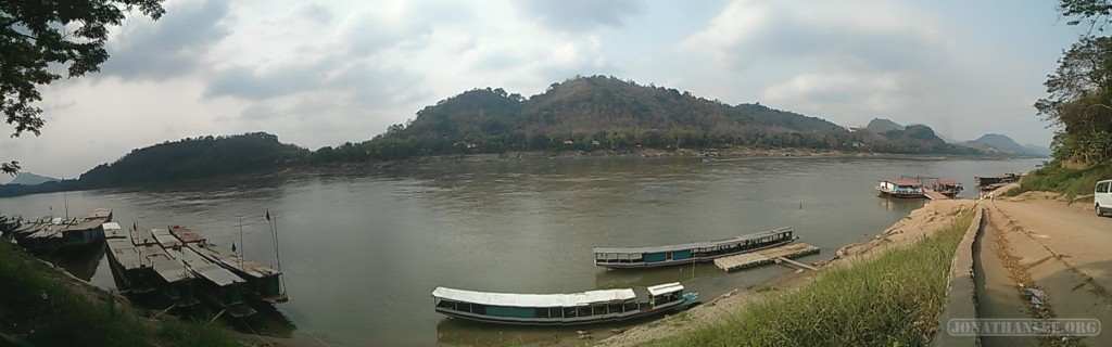 Luang Prabang - panorama river view 3