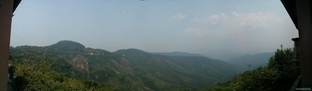 Luang Prabang to Phonsavan - panorama view from bus